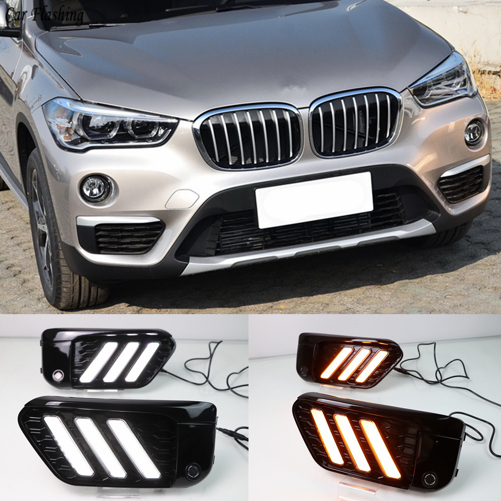For BMW X1 F48 2016 2017 2018 2019 DRL 3 Colors LED Daytime Running Light W Turn