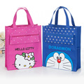 Cartoon Hello Kitty Neverfull Shoulder Messenger Bags Women Canvas Crossbody Handbag Makeup Handbags Art Small Shopping Tote Bag