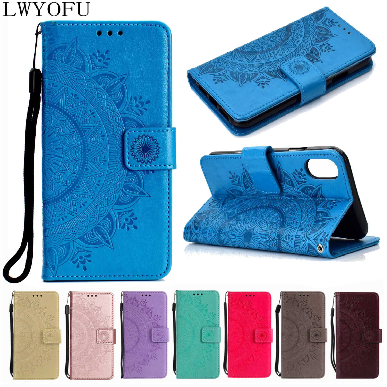 Deluxe Flap PU Leather Case for Xiaomi 8 Lite F1 6X Redmi 4X 5A 5 Plus Note 7 5 6 Pro 7A K20 Pro Card Slot Wallet Phone Case