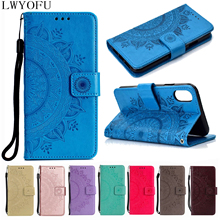 Luxury flip cover for Samsung Galaxy S3 S4 S5 mini S6 S7 Edge S8 S9 S10 Plus 5G A9 2018 card slot wallet bracket phone case