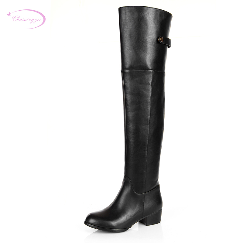 Chainingyee handmade quality custom sexy charm contracted genuine leather knee high boots zippers rivet women's riding boots handmade quality custom sexy charm contracted style leather side zippers rivet women s knight boots