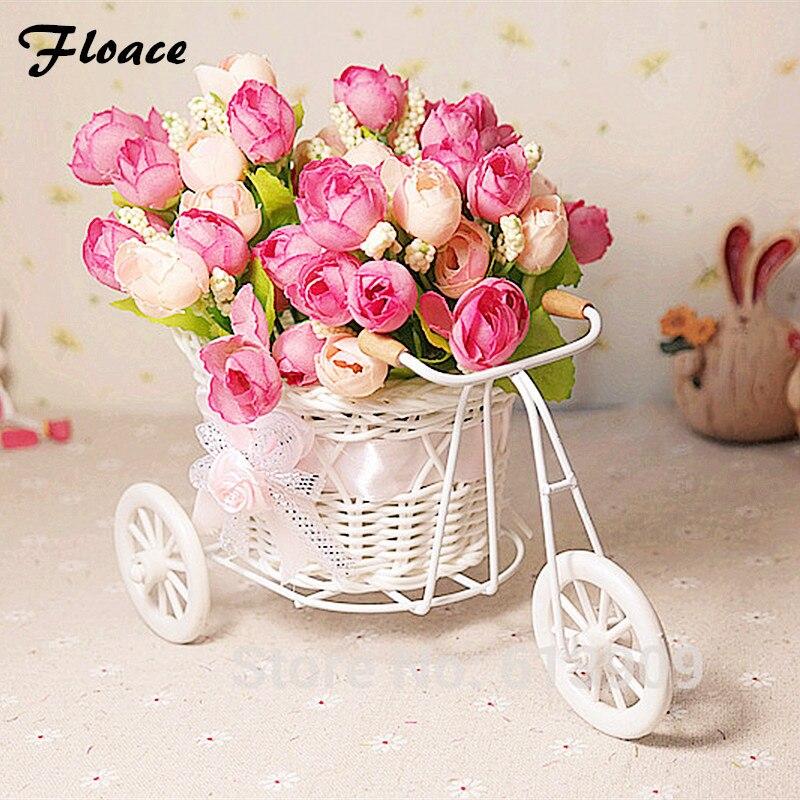 Floace ротанга Trycycle искусственный цветок шелк цветок набор декор главная таблица столовая подарок свадебные украшения-FL140079