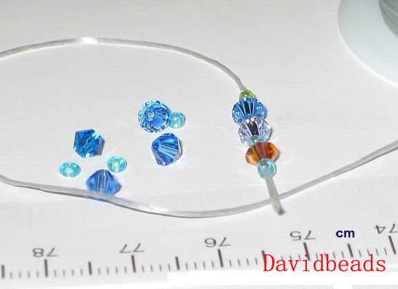 5 لفات/50 متر 0.8 مللي متر كريستال بسط مطاطا كرافت خرز سوار الموضوع الحبال سلك 15 ألوان في المجموع لصنع المجوهرات