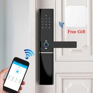 Image 1 - Умный домашний замок без ключа безопасности, Wi Fi замок с паролем и RFID картой, беспроводной дистанционный шлюз с приложением