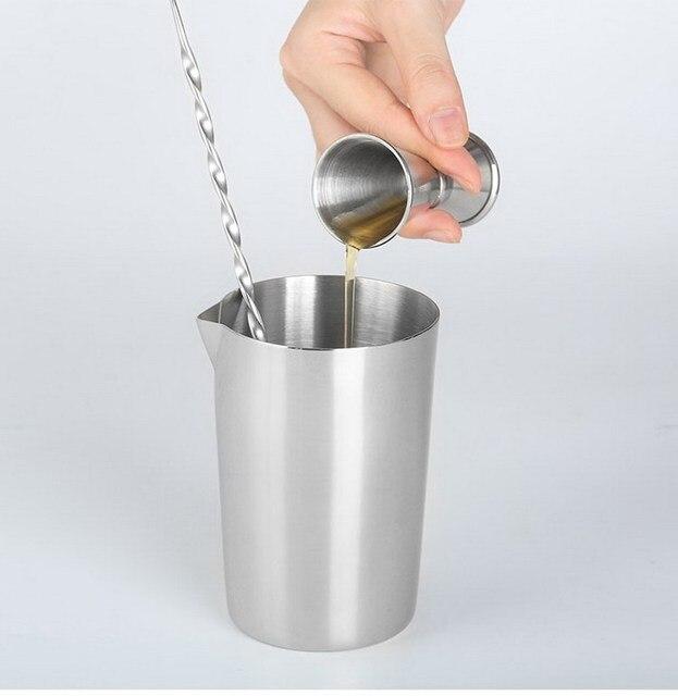 Verre à mélanger en acier inoxydable 304, 500ml, tasse à mélanger pour Cocktail, vin, verre