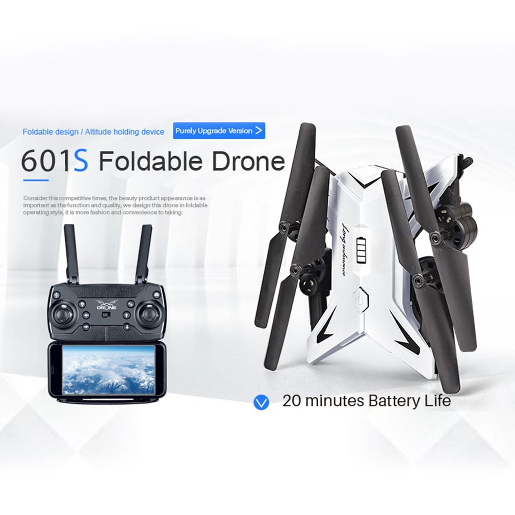 KY601S RC Helicopter with Camera HD 1080P WIFI FPV RC Drone 4CH Foldable Selfi Dron 20 Mins Battery Life Helicopter QuadcopterKY601S RC Helicopter with Camera HD 1080P WIFI FPV RC Drone 4CH Foldable Selfi Dron 20 Mins Battery Life Helicopter Quadcopter