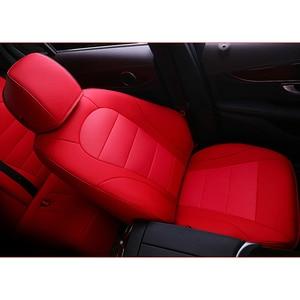 Image 2 - kokololee auto custom real leather car seat cover For vw golf 4 5 VOLKSWAGEN polo 6r 9n passat b5 b6 b7 Touareg Tiguan car seats