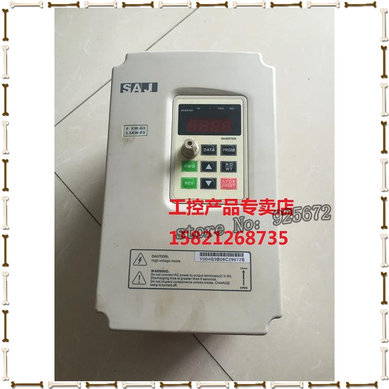 Three crystal SAJ inverter V004G3 / V5R5P3 4 KW - G3 P3 is 5.5 KW - 380 v had been test package in the inverter e vfd022e21a photo 2 2 kw 220 v has been test package is good