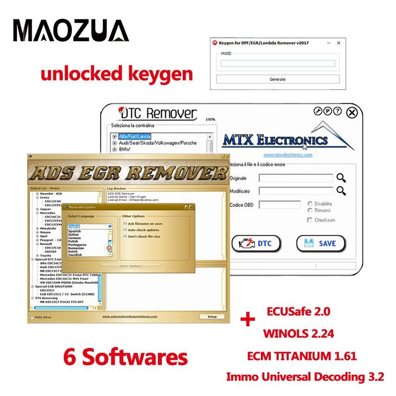Winols 2 24 + Unlock patch + Damos files + Video + User