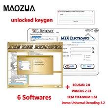 Immo Универсальное декодирование 3,2+ WINOLS+ ECM TITANIUM 1,61+ ECUSafe 2,0+ MTX DTC Remover 1.8.5+ DPF EGR REMOVER,05+ Keygen
