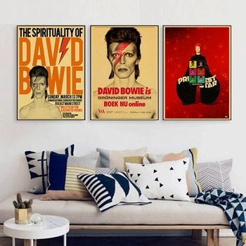 David Bowie Rock Music Poster