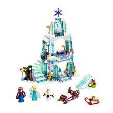 JG301 Prinzessin Elsa Sparkling Ice Burg Bausteine Für Mädchen Freunde Kinder Modell Spielzeug Minifiguren Marvel Kompatibel Legoe