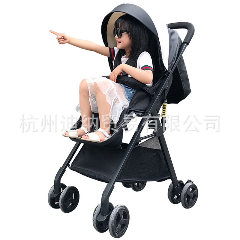 купить Baby stroller can sit lie super lightweight folding portable high landscape summer baby stroller umbrella по цене 8313.37 рублей