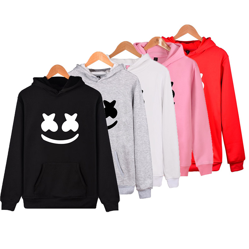 Adult Unisex DJ Marshmello Hooded Hoodie Jacket Costumes  Marshmello Coat For Woman Man Pluz Size