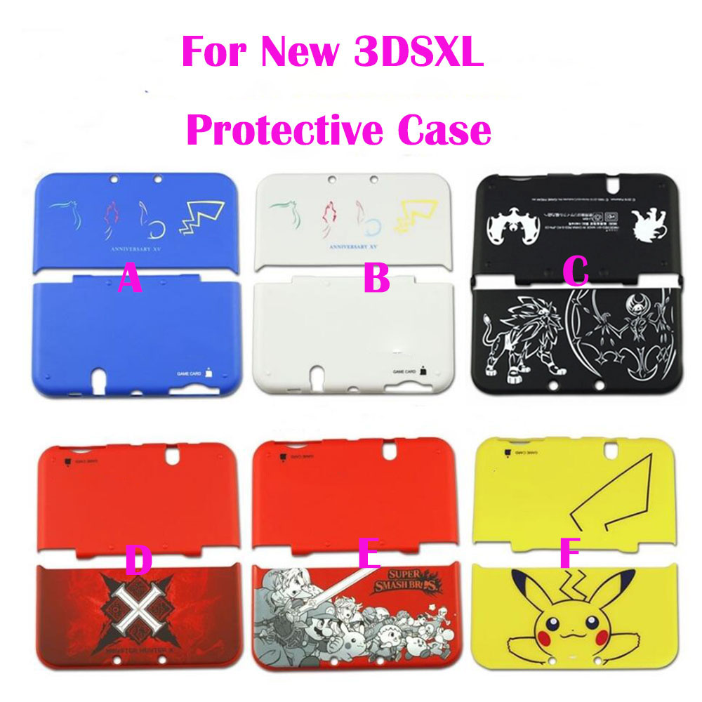 6sets for nintendo new3dsll pokemon edition front back for Coque 3ds xl pokemon