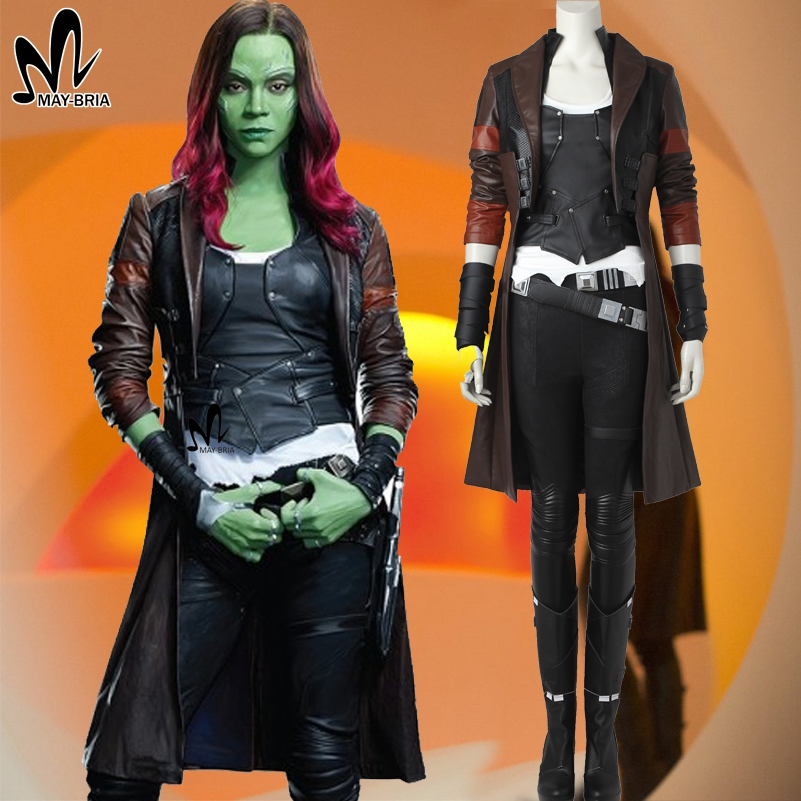 Guardians of the Galaxy 2 Gamora cosplay costume superhero