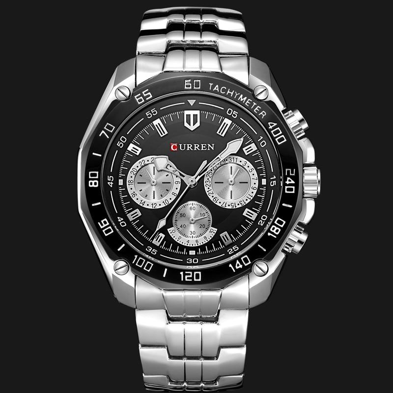 Fashion Curren Luxury Brand Man quartz full stainless steel Watch Casual Military Sport Men Dress Wristwatch Gentleman 2018 New 2