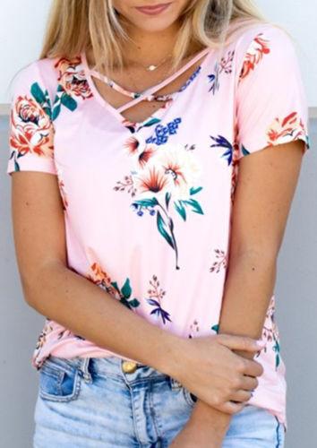 2017 sommer mode frauen bluse floral kurzarm damen baumwolle lose - Damenbekleidung - Foto 4