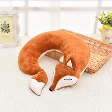 Cute Animal Travel Pillow Creative U Shape Neck Pillow PP Cotton Health Care Comfortable Nap Pillow Cushion Home U Pillows