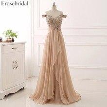 Элегантное Вечернее Платье С v-образным вырезом и бисером, шифоновое вечернее платье с блестками и коротким рукавом YY009