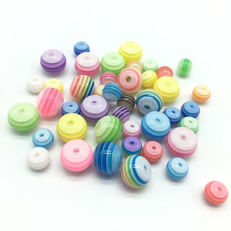 Acrylharz-Kreisregenbogen-Streifen bördelt Halskettenzusätze der - Modeschmuck - Foto 4