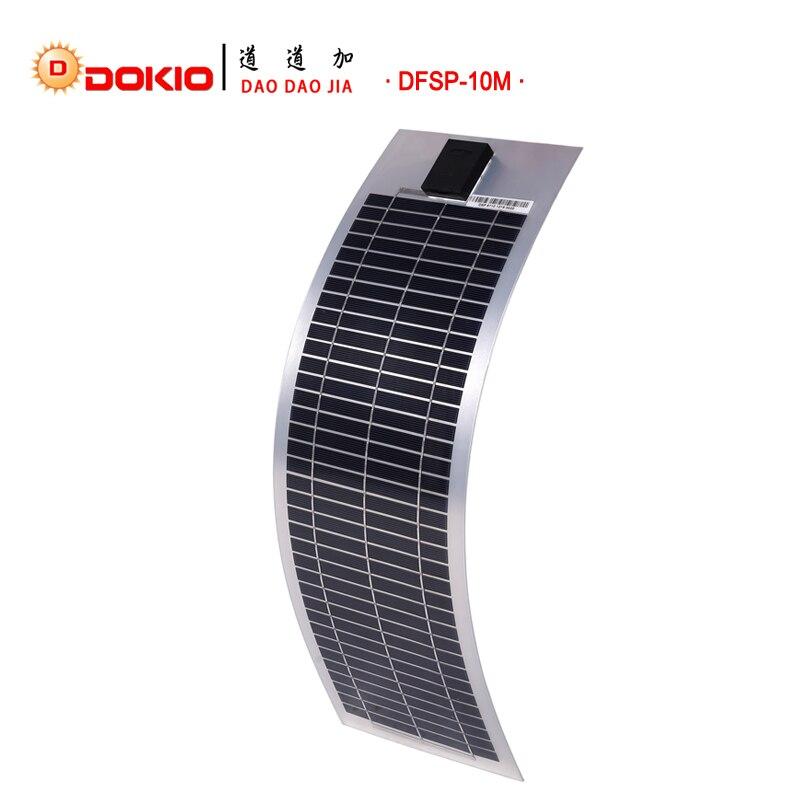 DOKIO Brand Flexible Solar Panel 10W Monocrystalline Silicon Solar Panels 18V 585 180 20MM Top Quality