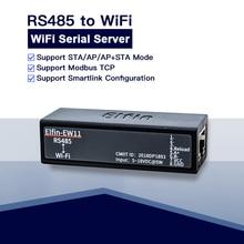Port série RS485 vers le module serveur de périphérique WiFi Elfin EW11 prise en charge du transfert de données TCP/ip Telnet Modbus protocole TCP via WiFi