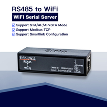 Serial port RS485 to WiFi device server module Elfin EW11 support TCP/IP Telnet Modbus TCP Protocol data transfer via WiFi