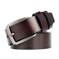 male belt for mens high quality cow genuine leather belts 2019 hot sale strap fashion new jeans Black Buckle