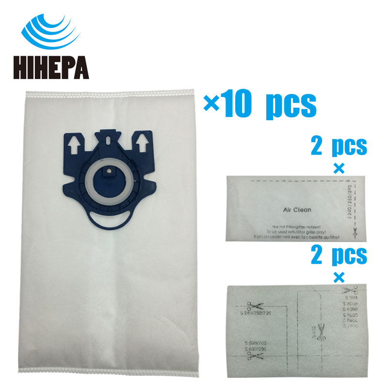 10pcs Vacuum Cleaner Dust Bags & 4 Felt Filters for Miele Type GN Deluxe Synthetic Fit Miele S2 S5 S8 C1 C3 Series Vacuums 2pcs vacuum cleaner foam felt filters for shark rotator nv450 nv200 200c nv200q nv201 nv202 202c nv472 nv480 fit model xff450