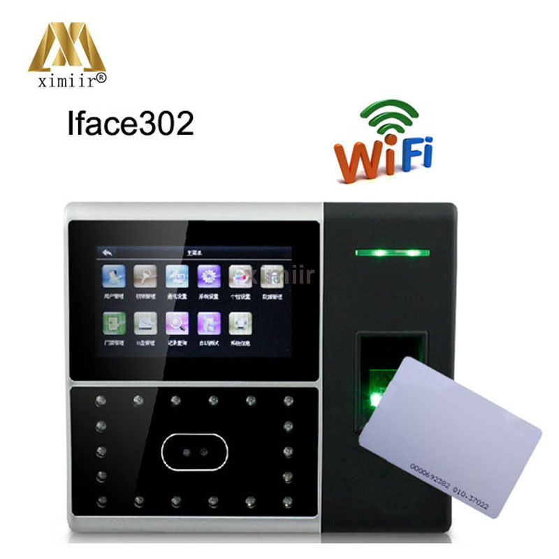 WIFI TCP/IP RS232/485 Attendance Device Iface302 Face Fingerprint IC Card Time Attendance Access Control Face Attendance Machine