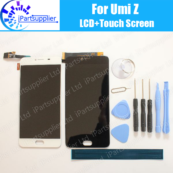 UMI Z LCD Display+Touch Screen 100% Original LCD Digitizer Glass Panel Replacement For UMI Z+tools+adhesive