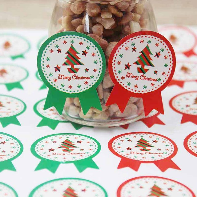 120pcs vintage christmas theme series badge design diy giftscandy faovrssouvenirs decoration seal - Vintage Christmas Gifts