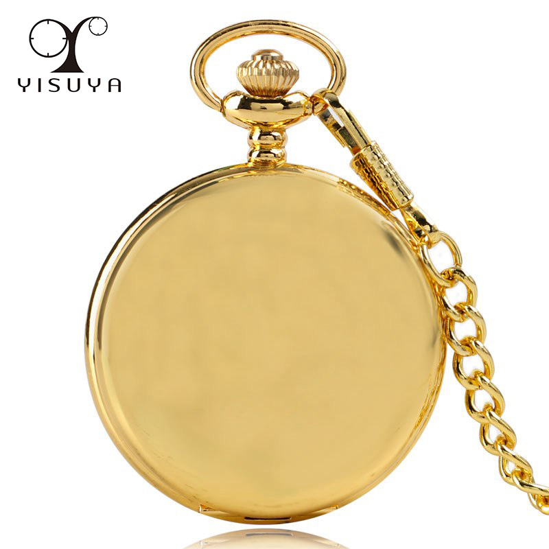 Pendant Fob Watch Modern Silver/Black/Golden/Red Copper Polish Smooth Quartz Pocket Watch Arabic Number Dial Women Men Gift vintage black roman number quartz pocket watch men necklace pendant fob men women watches gift ship from us epacket dropshipping