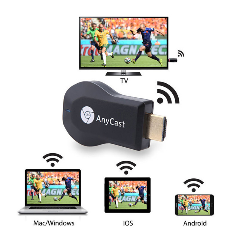 AnyCast M4 Plus Wireless WiFi Ricevitore Display Dongle 1080 P HDMI Media Video Streamer TV Stick DLNA Airplay Miracast Chrome cast
