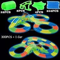 Glow Race Track Bend Flex Glow In The Dark Assembly Toy 112 160 256 300PCS Slot