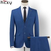 HCXY 2018 Autumn New high quality Brand Blazers 2 piece pants and Suits Jackts Men Fashion Male Blazer Casual Masculine Blazer