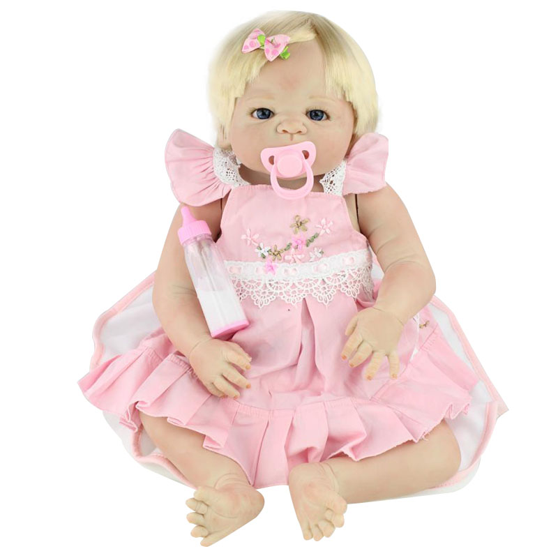 22 58cm Silicone Girls Doll Handmade Soft Vinyl Baby Reborn Dolls Alive Princess Simulation Dolls Toys for Children Xmas Gifts 23 real baby dolls handmade full silicone reborn doll alive soft vinyl baby princess dolls toys for girls children kid gifts