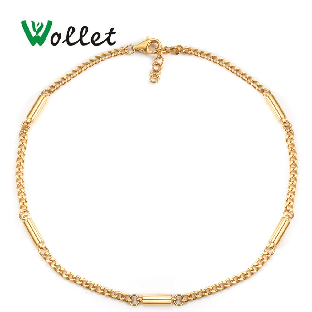 Wollet Body Jewelry Stainless Steel Magnetic Anklets for Women Silver or Rose Gold Color Health Care Healing Energy Magnets