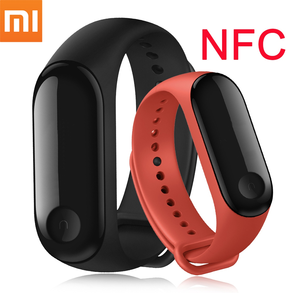 Original mi Band 3 NFC Version Xio mi Herz Rate Monitor Smart Sport Armband OLED mi band 3 Smartband Multi farbe Riemen 2018-in Intelligente Armbänder aus Verbraucherelektronik bei  Gruppe 1