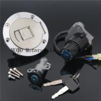 Motorbike Ignition Switch Lock Fuel Gas Cap Lock Key Seat One Set For YAMAHA TZR125 TZM150 TZR150 TDM850 Gas Cap lock 2 X keys