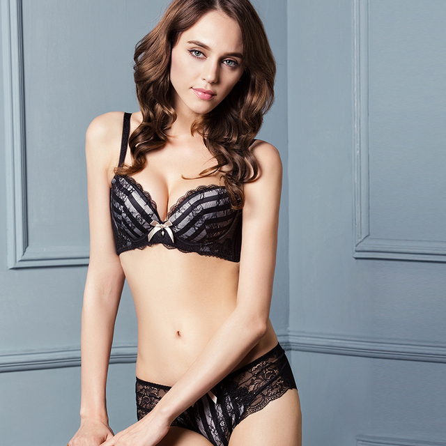 e82a5d268d4 Black and white zebra strip sexy bra and underwear combo for small and  medium size breast young girls daily and party underwear