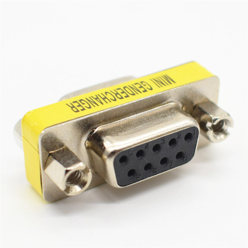 DB9 9Pin Female To Female Mini Gender Changer Adapter RS232 Serial Connector rs232 db9 9pin male to female mini gender changer adapter converter a to b serial connector port