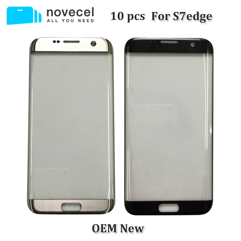 Novecel 10 pcs OEM New Devant L'objectif En Verre Pour Samsung S7 bord G935 LCD Affichage Écran Tactile Extra-Atmosphérique Remplacement de Verre