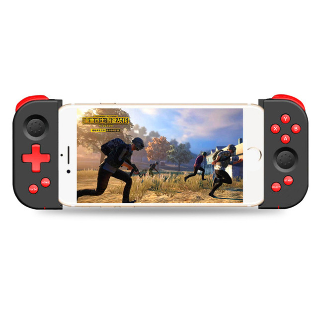 Wireless Bluetooth 4.0 Gamepad Game Handle Controller Stretchable Joystick for iOS Android Smartphone Tablet For PUBG Mobile