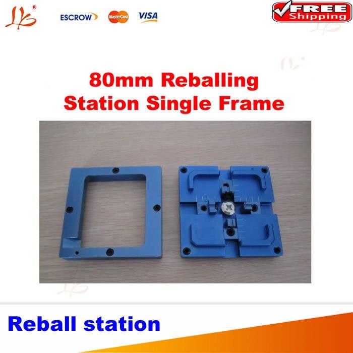 Free shipping  80 x 80mm blue reball station,single frame bga jig holder  for 80mm stencils templates single sided blue ccs foam pad by presta