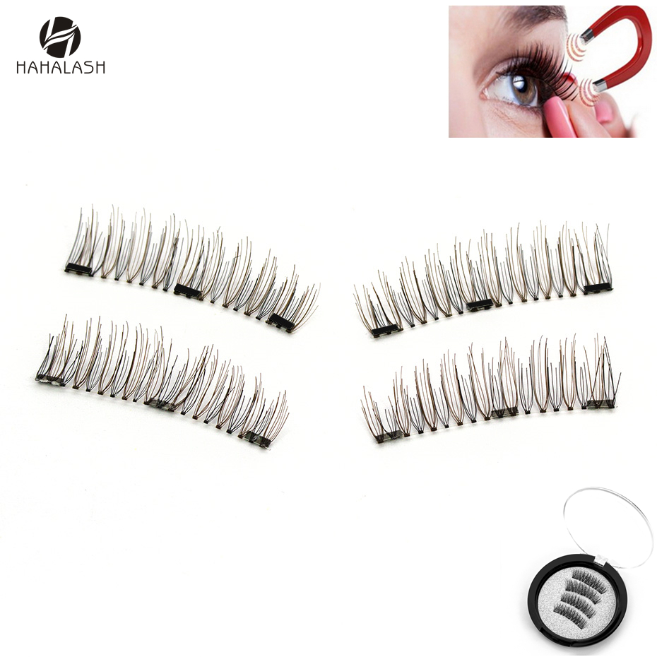 HaHaLash Magnetic Eyelashes 3D false eyelashes with 3 magnets handmade cilios wholesale eye lash extention 24P