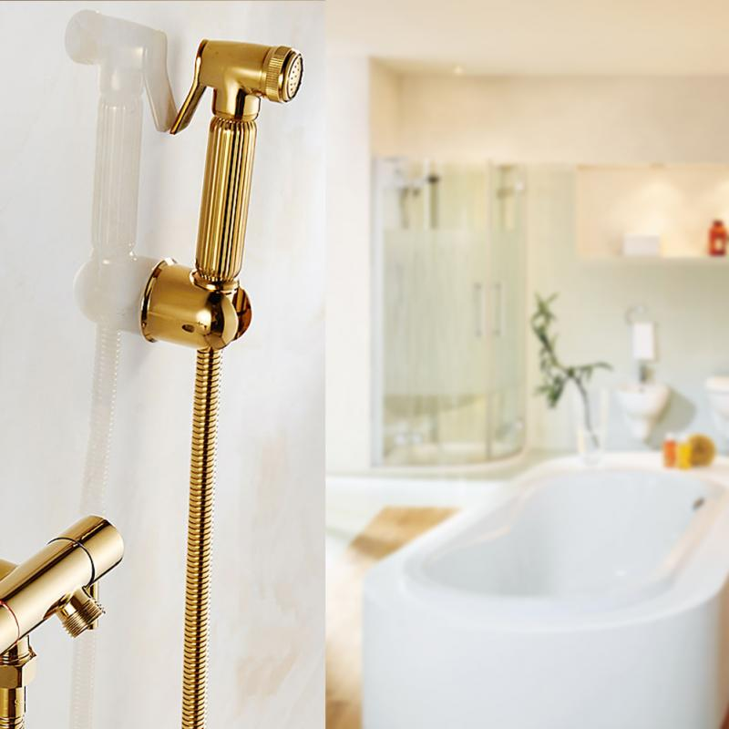Solid Brass Bidet Sprayer Wall Mount Shower Toilet Sprayer ...