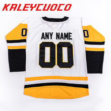 High Quality New 71 Evgeni Malkin 81 Phil Kessel 87 Sidney Crosby Jersey  Stitched Logos Name Number Hockey 832d7acee