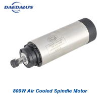 CNC Spindle 800W Air Cooled Motor 110V 220V AC Spindle ER11 Router Motor 0.8KW 65MM Machine For Milling Tools